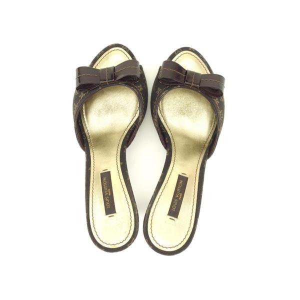 ルイ ヴィトン Louis Vuitton サンダル シューズ 靴 レディース #36ハーフ モノグラム・ミニ・ラン 中古