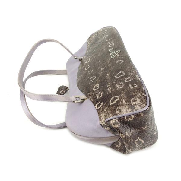 プラダ PRADA ハンドバッグ がま口 レディース リザード型押し