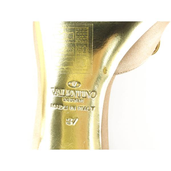 ヴァレンティノ ガラヴァーニ VALENTINO GARAVANI サンダル パンプス シューズ 靴 レディース ♯37 ラインストーン リボンモチーフ