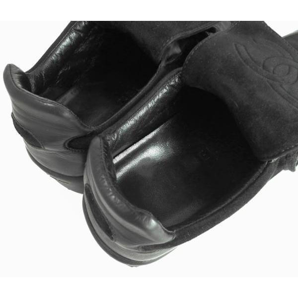 シャネル スニーカー 36 レディース ブラック 黒 ココマーク CC