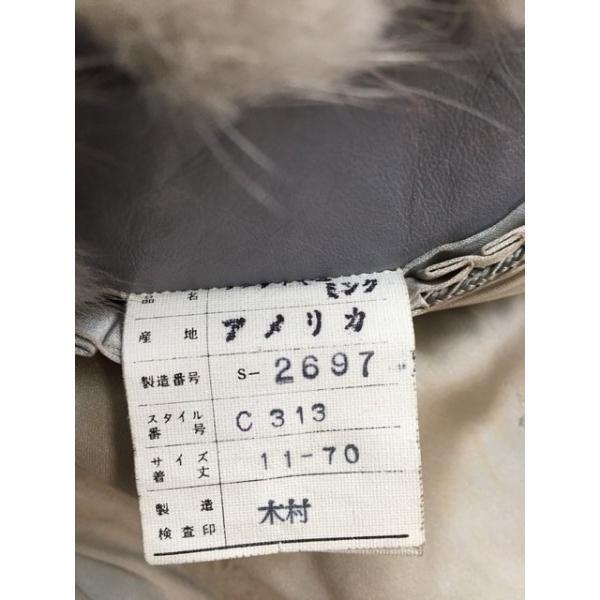エンバ EMBA コート レディース アイボリー×グレー ミンクファー/冬物         スペシャル特価 20180622|brandear|04