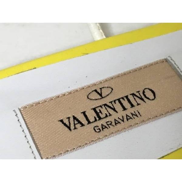 バレンチノガラバーニ サンダル 36 2/1 レディース 美品 ロックスタッズ イエロー×白 スタッズ 新着 20181021