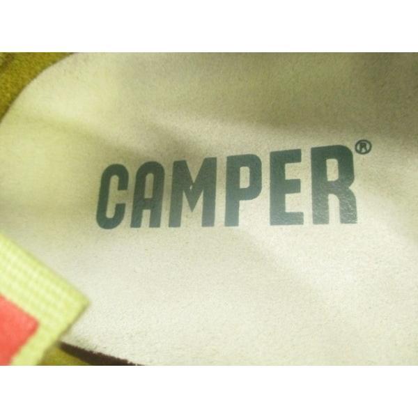 カンペール CAMPER フラットシューズ レディース 白×ライトブラウン 花柄 レザー   スペシャル特価 20190205