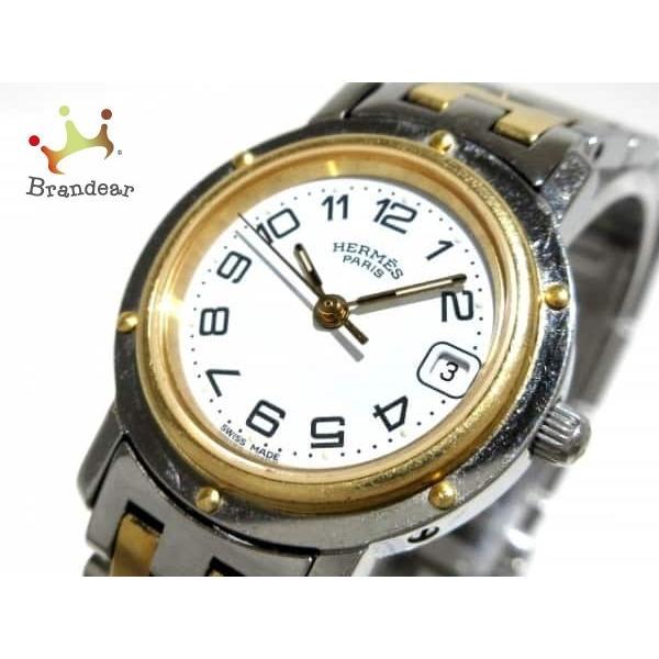 differently 4010f 84446 エルメス HERMES 腕時計 クリッパー CL4.220 腕時計 レディース ...