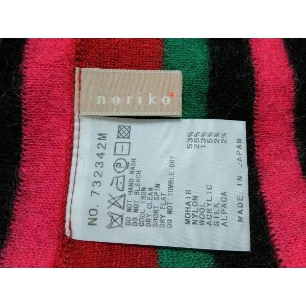 ノリコアラキ noriko araki マフラー 黒×レッド×マルチ スヌーズ/ボーダー  値下げ 20190604|brandear|02