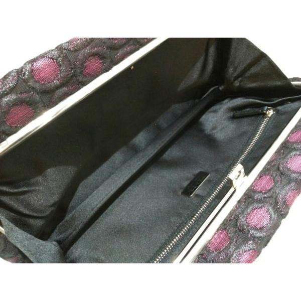 プラダ PRADA クラッチバッグ - 黒×ピンク ナイロン  値下げ 20190109