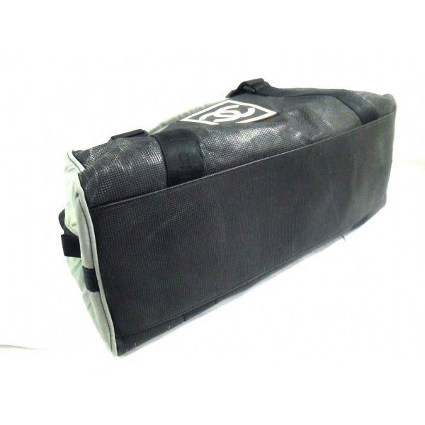 シャネル CHANEL ボストンバッグ スポーツライン 黒×グレー PVC(塩化ビニール)×ナイロン  値下げ 20190110