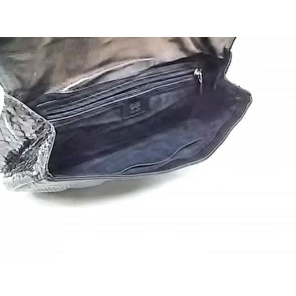 アニヤハインドマーチ Anya Hindmarch クラッチバッグ - 黒 パイソン         スペシャル特価 20190503