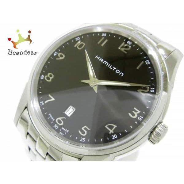 ハミルトン HAMILTON 腕時計 ジャズマスターシンライン H385111 メンズ 黒  値下げ 20190303|brandear
