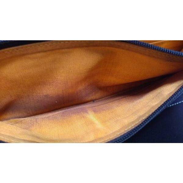 カステルバジャック 長財布 オレンジ×ダークブラウン 型押し加工/ラウンドファスナー レザー   スペシャル特価 20190521|brandear|04