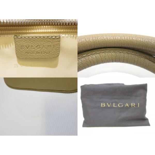 ブルガリ BVLGARI バッグ 美品 ミレリゲ 白×ライトブラウン PVC(塩化ビニール)×レザー  値下げ 20190227