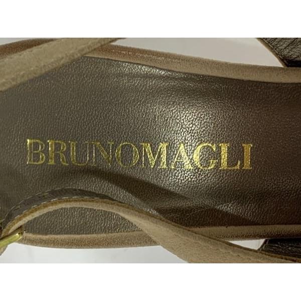 ブルーノマリ BRUNOMAGLI サンダル レディース ライトブラウン スエード 新着 20190319