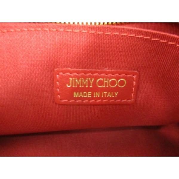 ジミーチュウ JIMMY CHOO クラッチバッグ - ピンク×ボルドー×アイボリー 迷彩柄 ハラコ        値下げ 20190503