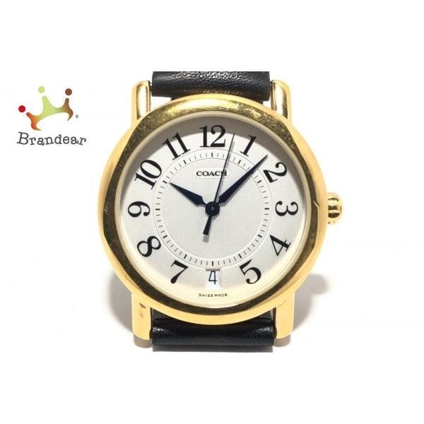 3e77701787b2 コーチ COACH 腕時計 W505 レディース 革ベルト 白 新着 20190601の画像