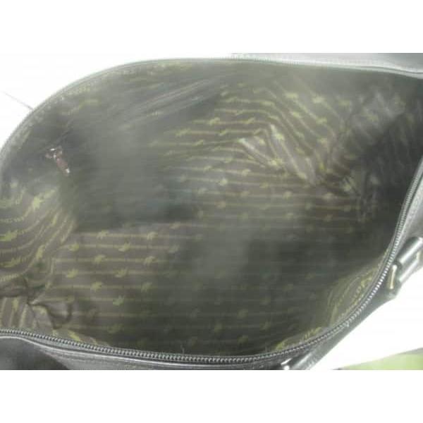ハンティングワールド ボストンバッグ 美品 MB1-7405 黒 メルセデスベンツ ナイロン×レザー  値下げ 20190420