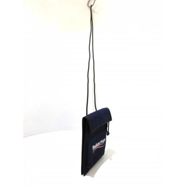 バレンシアガ BALENCIAGA ショルダーバッグ 新品同様 - 532298 ネイビー×黒×マルチ ナイロン  値下げ 20190422
