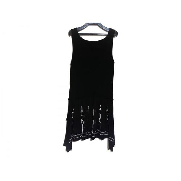 ノリコアラキ noriko araki ワンピース サイズM レディース 美品 黒×白×レッド 刺繍 新着 20190618|brandear|02