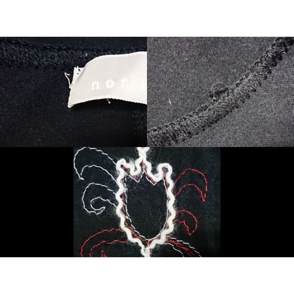 ノリコアラキ noriko araki ワンピース サイズM レディース 美品 黒×白×レッド 刺繍 新着 20190618|brandear|06