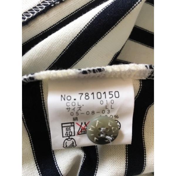 シナコバ SINACOVA 長袖ポロシャツ サイズLL メンズ 美品 白×黒×マルチ ボーダー 新着 20190706|brandear|04