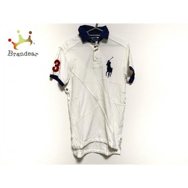 ポロラルフローレン 半袖ポロシャツ サイズS メンズ ビッグポニー 白×ネイビー 新着 20200806 brandear