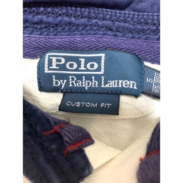 ポロラルフローレン 半袖ポロシャツ サイズS メンズ ビッグポニー 白×ネイビー 新着 20200806 brandear 03