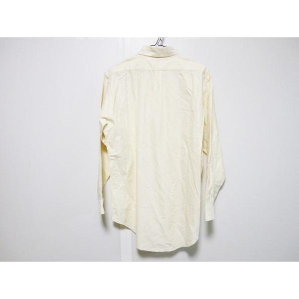 ラルフローレン RalphLauren 長袖シャツ サイズ15 1/2-32 メンズ イエロー×白 ストライプ   スペシャル特価 20191102|brandear|02