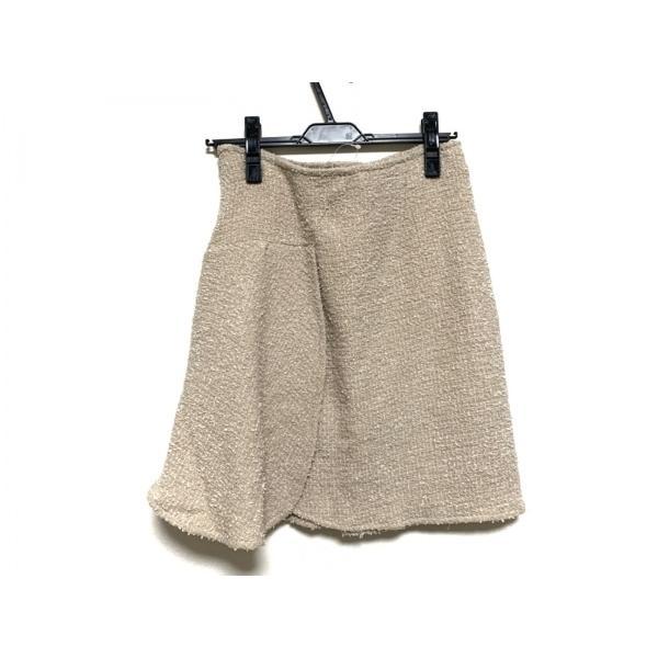 クリスチャンディオール ChristianDior スカート サイズ36 S レディース ベージュ×白  値下げ 20200929|brandear|02
