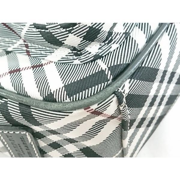 バーバリーブルーレーベル ショルダーバッグ 美品 黒×白×ボルドー チェック柄 新着 20191018|brandear|05