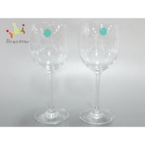 ティファニー TIFFANY&Co. ペアグラス 新品同様 - クリア ワイングラス×2 クリスタル 新着 20200620|brandear