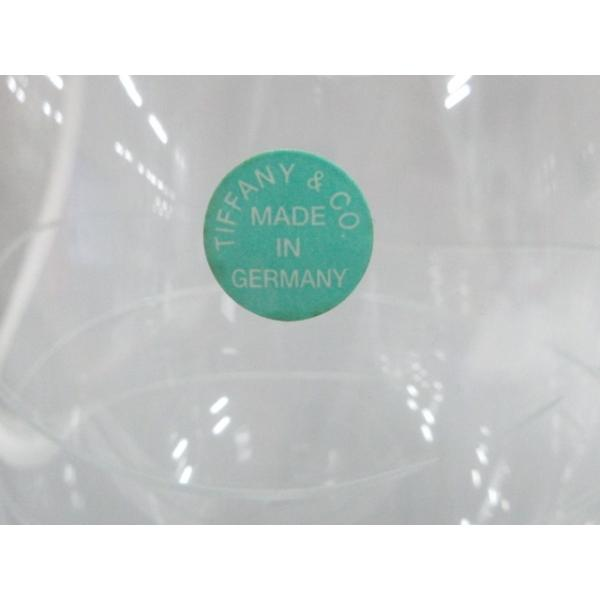ティファニー TIFFANY&Co. ペアグラス 新品同様 - クリア ワイングラス×2 クリスタル 新着 20200620|brandear|03