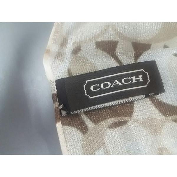 コーチ COACH マフラー 新品同様 オプティックシグネチャー柄 ベージュ×ブラウン×マルチ 新着 20200806 brandear 02