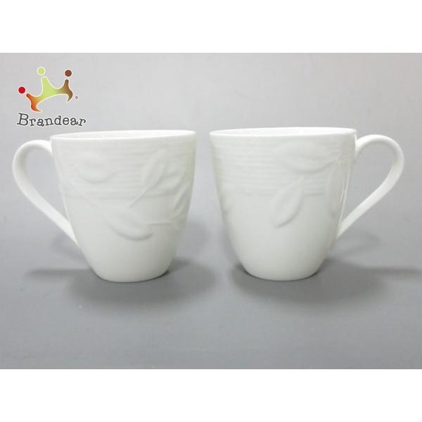 ティファニー TIFFANY&Co. マグカップ 新品同様 Tiffany Terrace 白 マグカップ×2 陶器 新着 20200630|brandear