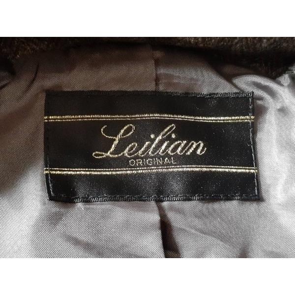 レリアン Leilian ダウンコート サイズ13+ S レディース 新品同様 ダークグレーブラウン 冬物 新着 20200704 brandear 03