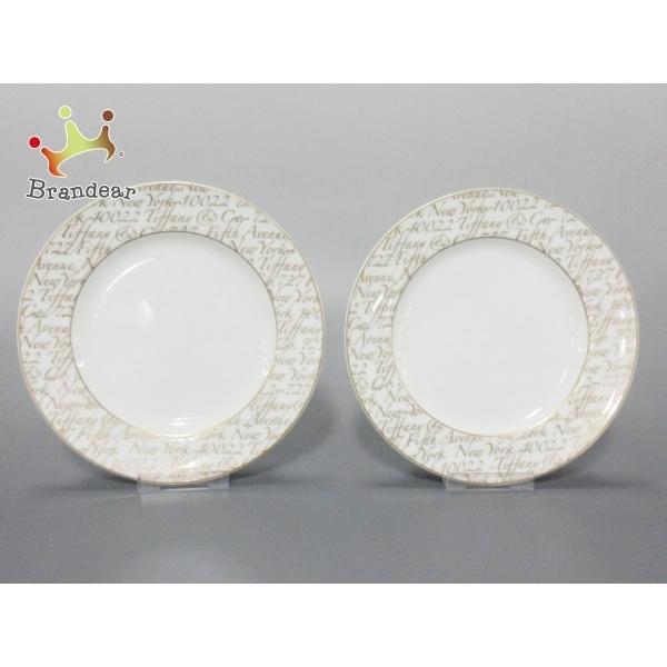 ティファニー TIFFANY&Co. プレート 新品同様 - 白×ゴールド プレート×2 陶器 新着 20201013