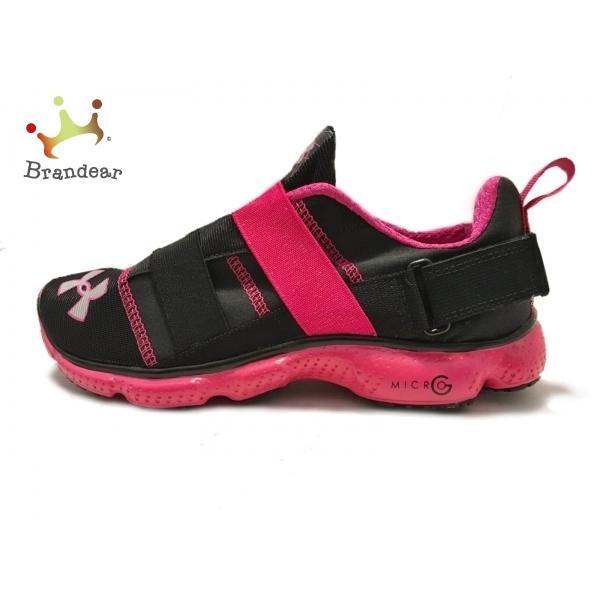 アンダーアーマーUNDERARMOURスニーカーUSA6.5レディース美品-黒×ピンク化学繊維スペシャル特価20210410