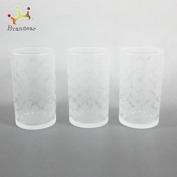 コーチ COACH 食器 新品同様 - クリア×白 グラス/グラス×3 ガラス 新着 20210320