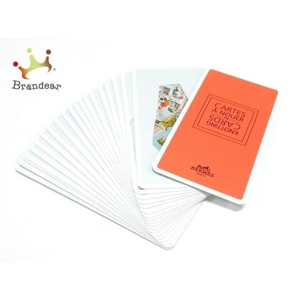 エルメスHERMES小物美品-オレンジ×白×マルチ紙スペシャル特価20210417