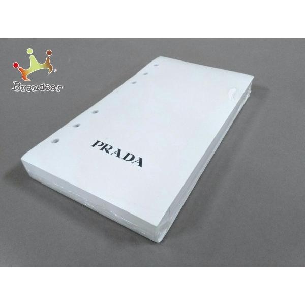 プラダ PRADA 小物 新品同様 - 白×黒 レフィル 紙 新着 20210306