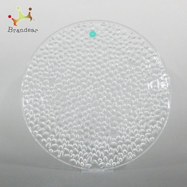ティファニー TIFFANY&Co. プレート 新品同様 コブルストーン プラター クリア ガラス 新着 20210327