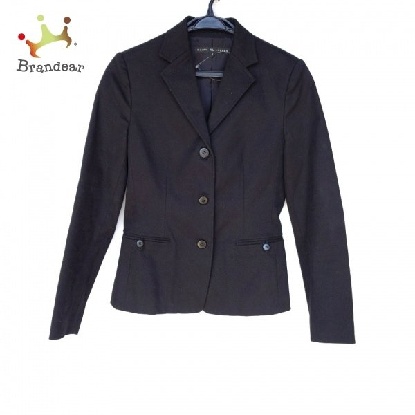 ラルフローレン RalphLauren ジャケット サイズ7 S レディース 新品同様 - 黒 長袖/春/秋 新着 20210401
