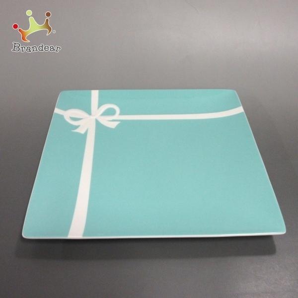 ティファニー TIFFANY&Co. プレート 新品同様 ブルーボウ ティファニーブルー×白 陶器 新着 20210830