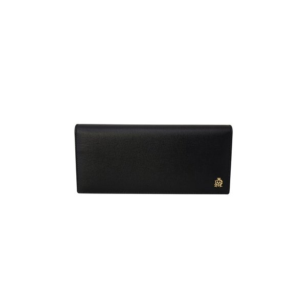 8430733b22c1 DUNHILL ダンヒル 長財布 L2S810A 二つ折り 長財布 かぶせ蓋 フラップ ウォレット BELGRAVE ベルグレイブ BLACK ...