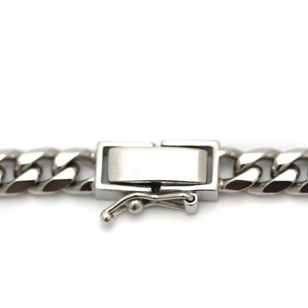 新品仕上げ済み  喜平 8面 シングル ネックレス メンズ Pt850プラチナ ジュエリー PT 中古 送料無料|brandeco|05