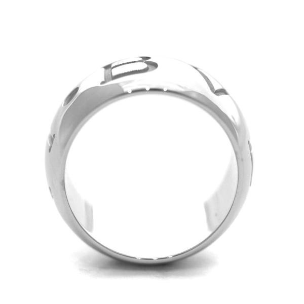 新品仕上げ済み ブルガリ モノロゴ リング・指輪 ユニセックス K18ホワイトゴールド ジュエリー 12号 ホワイトゴールド 中古 送料無料|brandeco|03