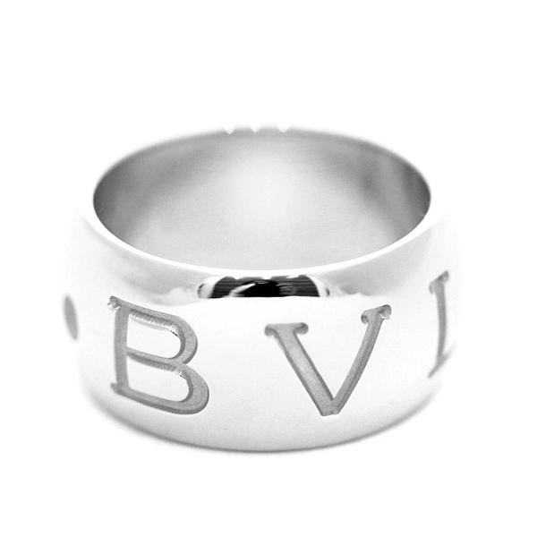 新品仕上げ済み ブルガリ モノロゴ リング・指輪 ユニセックス K18ホワイトゴールド ジュエリー 12号 ホワイトゴールド 中古 送料無料|brandeco|04