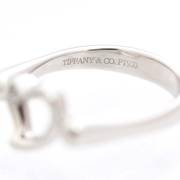 新品仕上げ済み ティファニー オープンハート リング・指輪 レディース Pt950プラチナ ダイヤモンド ジュエリー 8号 シルバー 中古 送料無料