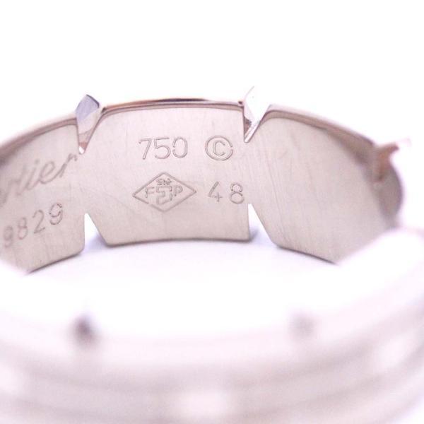 新品仕上げ済み カルティエ タンクフランセーズ リング・指輪 レディース K18ホワイトゴールド ジュエリー 8.5号 シルバー 中古 送料無料 brandeco 06