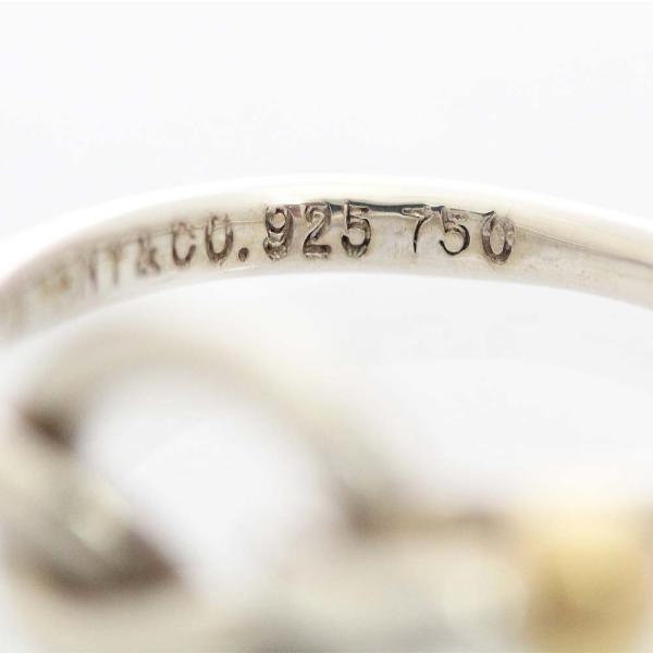 新品仕上げ済み ティファニー ラブノット リング・指輪 レディース シルバー925 K18イエローゴールド アクセサリー 8.5号 シルバー 中古|brandeco|06