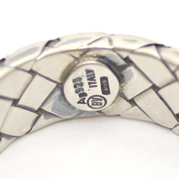 ボッテガヴェネタ イントレチャート  リング・指輪 メンズ シルバー925 アクセサリー 15号 シルバー 200741 中古 送料無料|brandeco|05