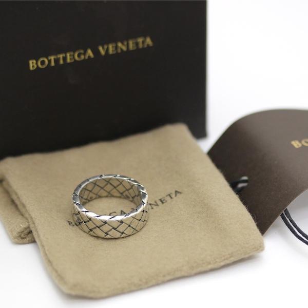 ボッテガヴェネタ イントレチャート  リング・指輪 メンズ シルバー925 アクセサリー 15号 シルバー 200741 中古 送料無料|brandeco|06